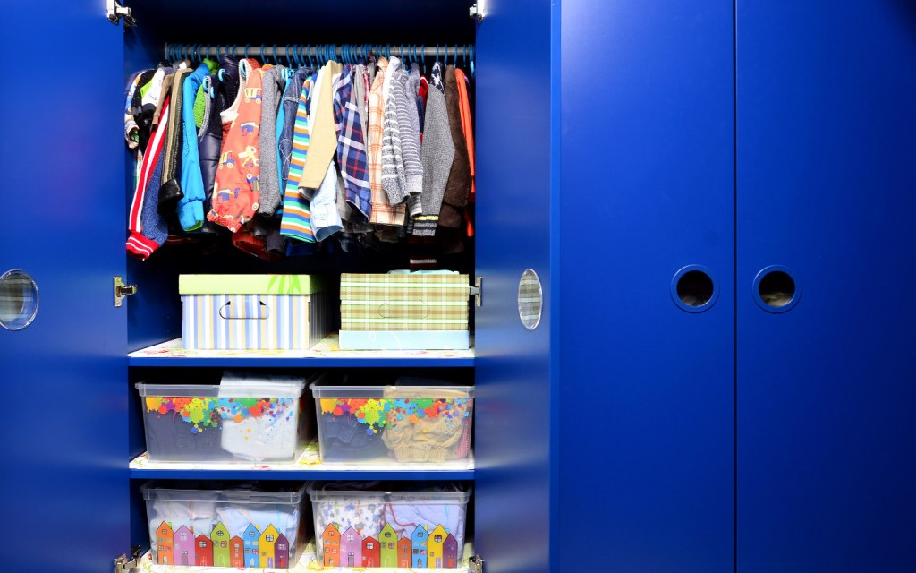 closet organisation ideas for kids