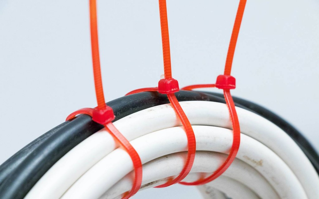 Tie the Wires Together with a Zip-Tie