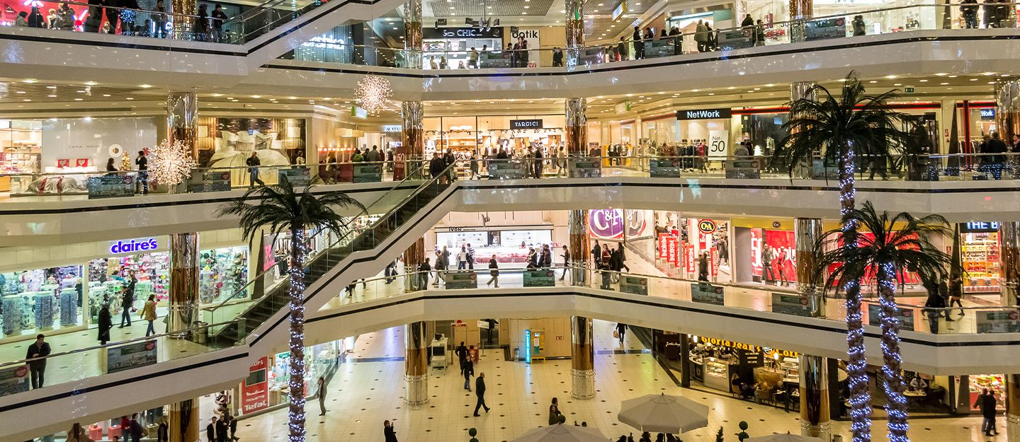 features of high-end shopping malls