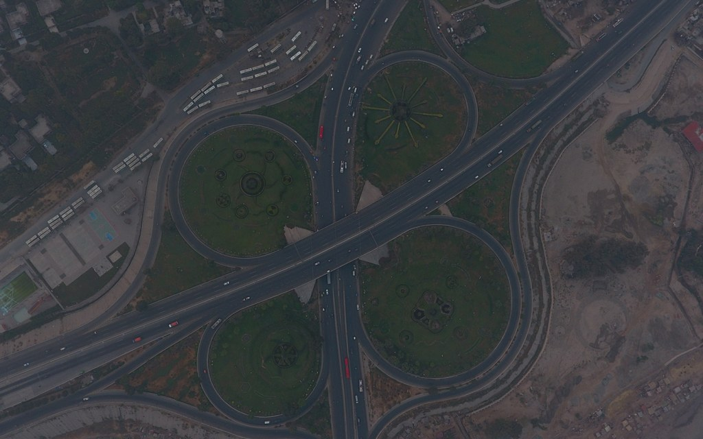 Lahore ring road aerial view