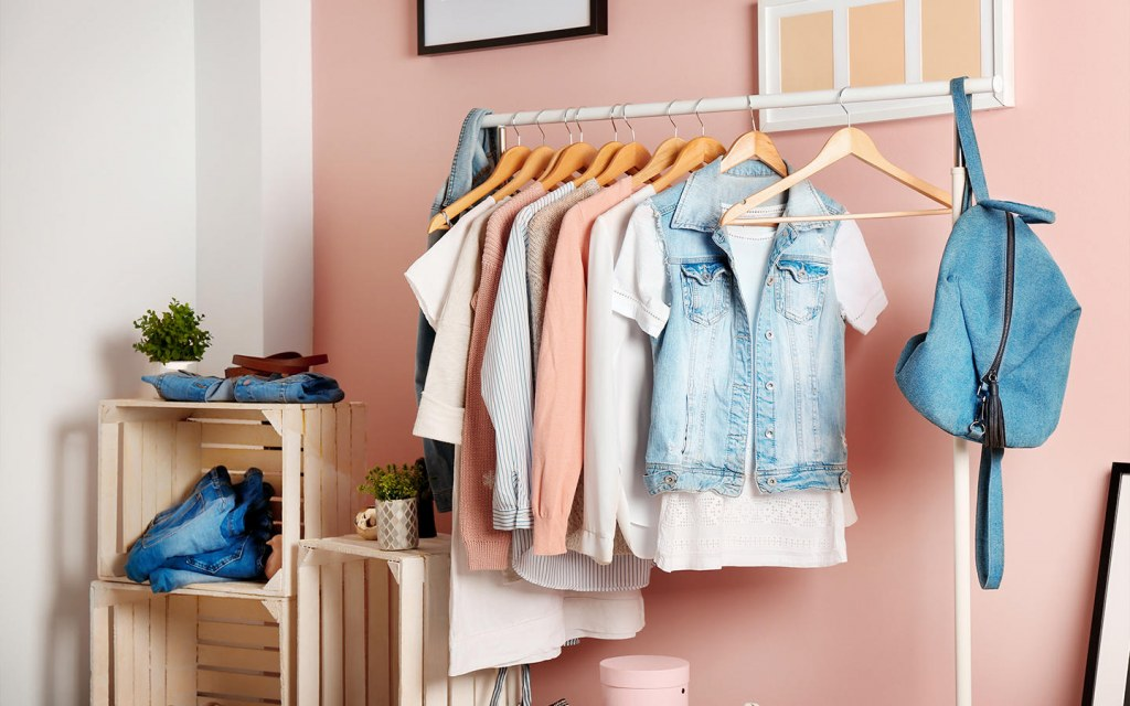 how to store clothes in a small bedroom without a closet