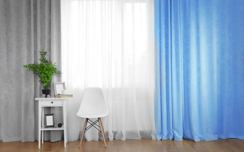 add curtains to decorate your drawing room