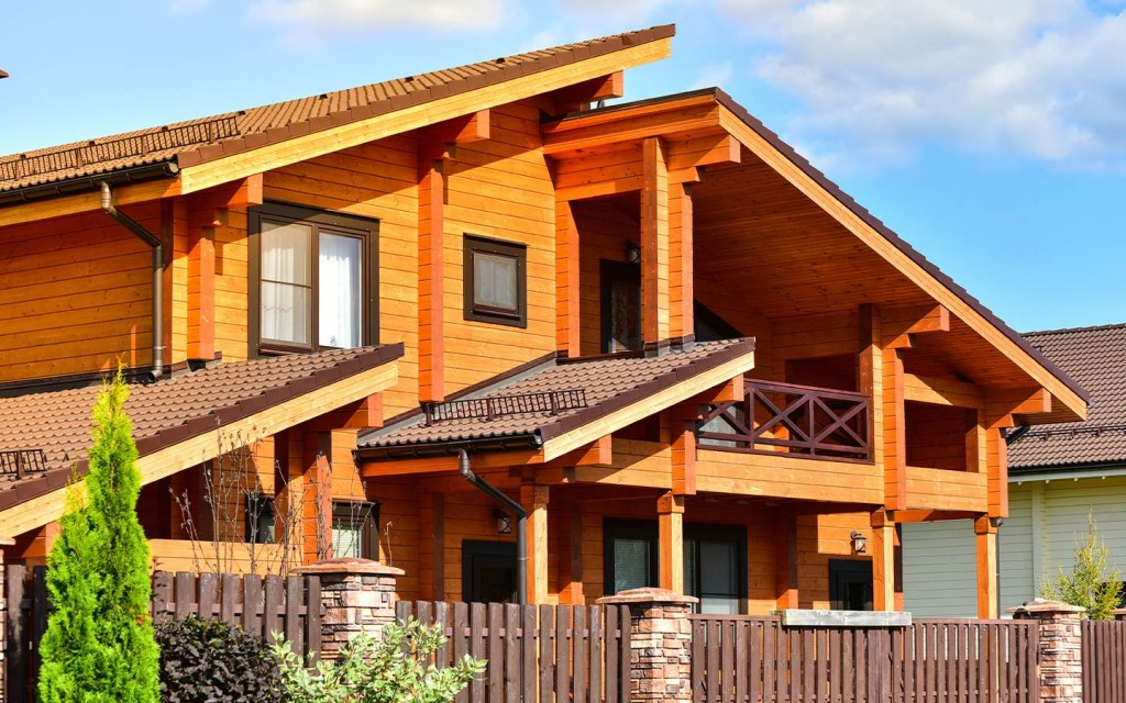 homes made of wood