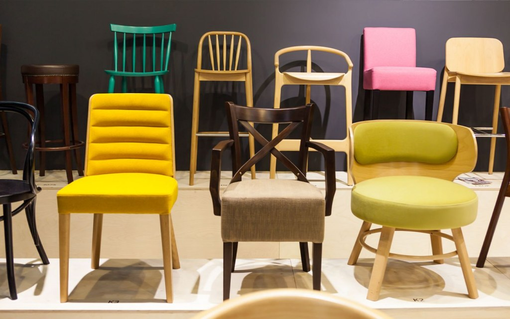 different sizes and designs of chairs