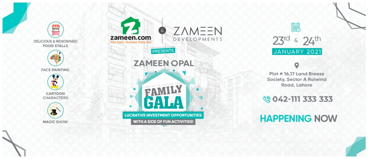 Zameen.com Invites all to Zameen Opal Family Gala Event