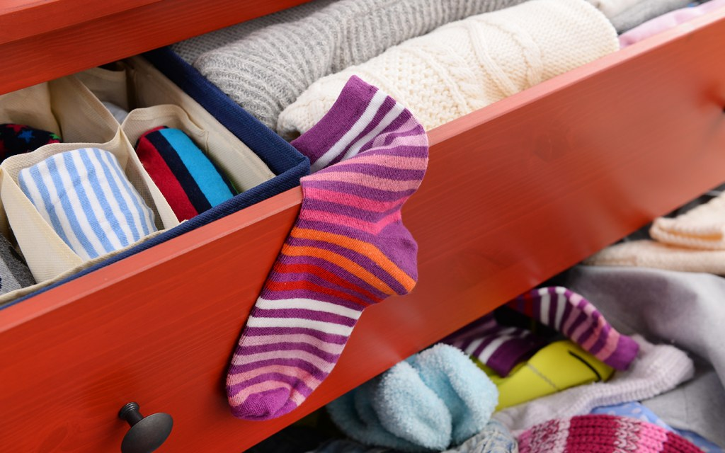 decluttering and organising your sock drawer