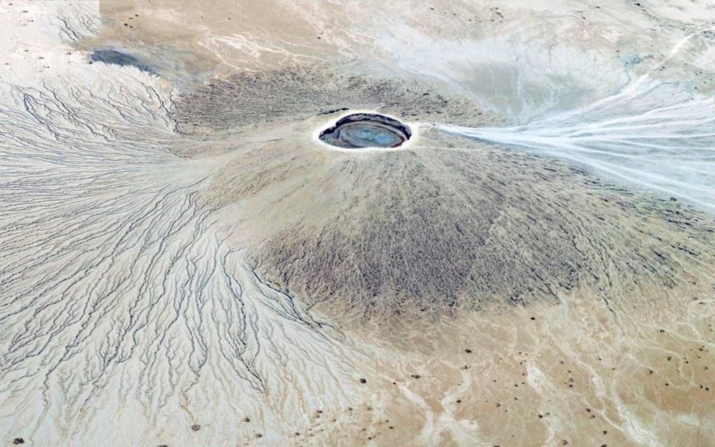 Hingol Mud Volcano Aerial view
