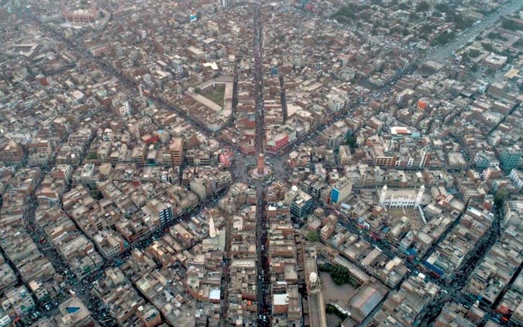 four main roads border ghanta ghar