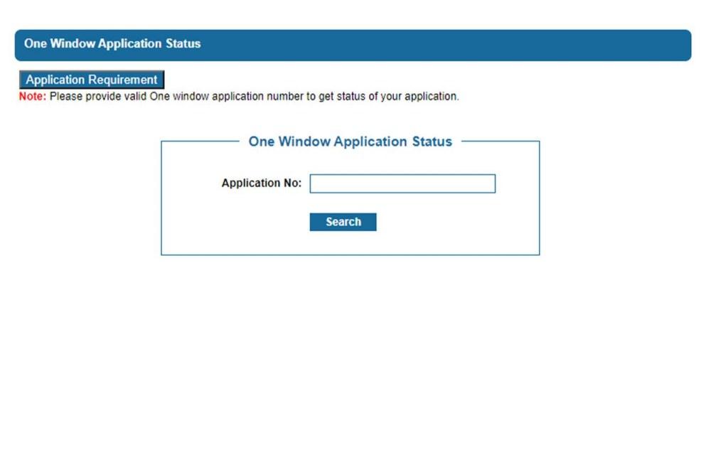 one window application status