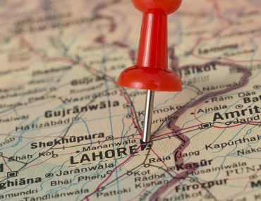 lahore on map of pakistan