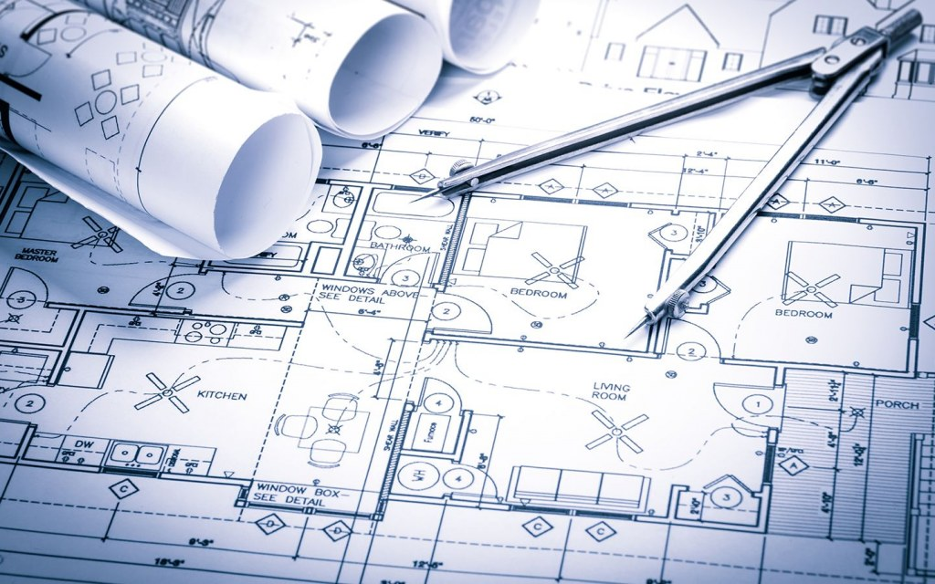 features of construction blueprints