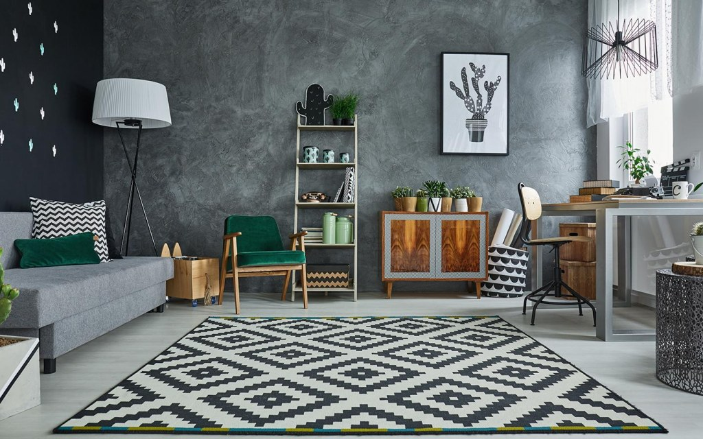 pattern of rugs in home