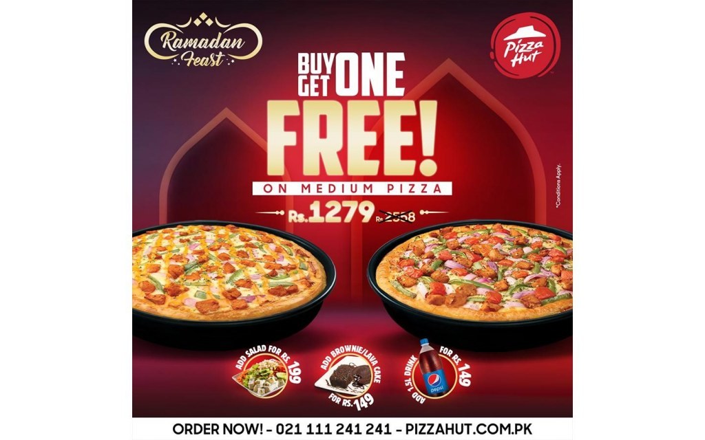 pizza hut deal for Lahore in Ramadan 2021