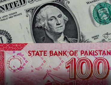 Pakistani currency rises against US dollar