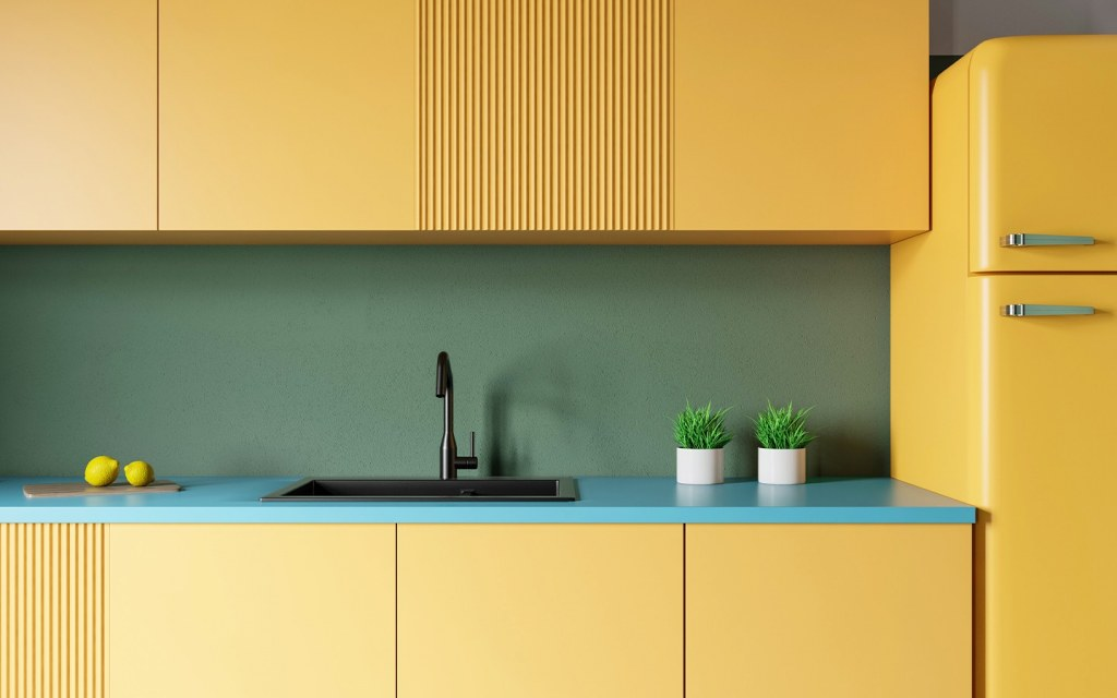 carefully choose the colour of your kitchen cabinets
