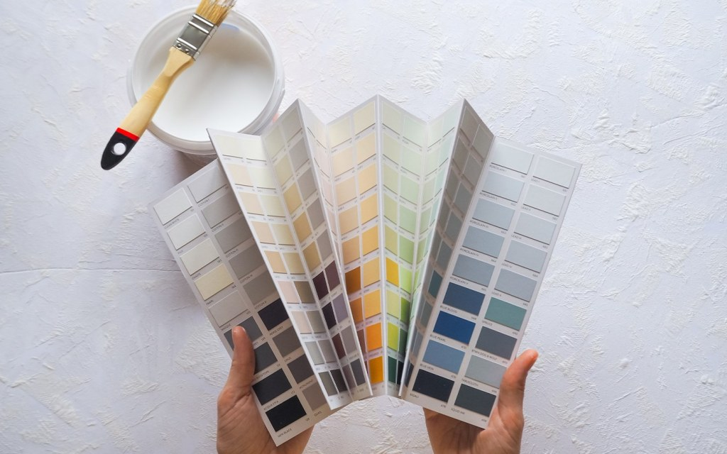paint swatches for the front door