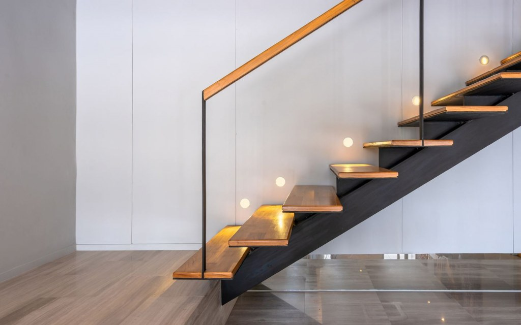 Install Lights on Side Wall Supporting Staircase