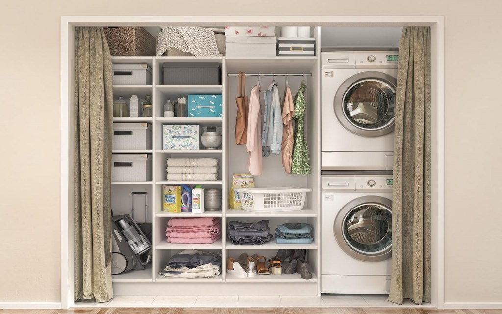 Use your laundry space efficiently