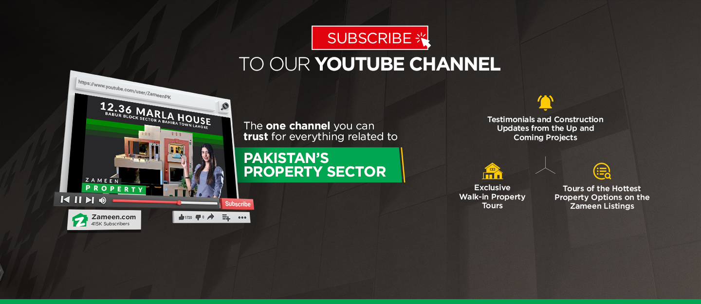 Subscribe to Zameen.com's Youtube Channel