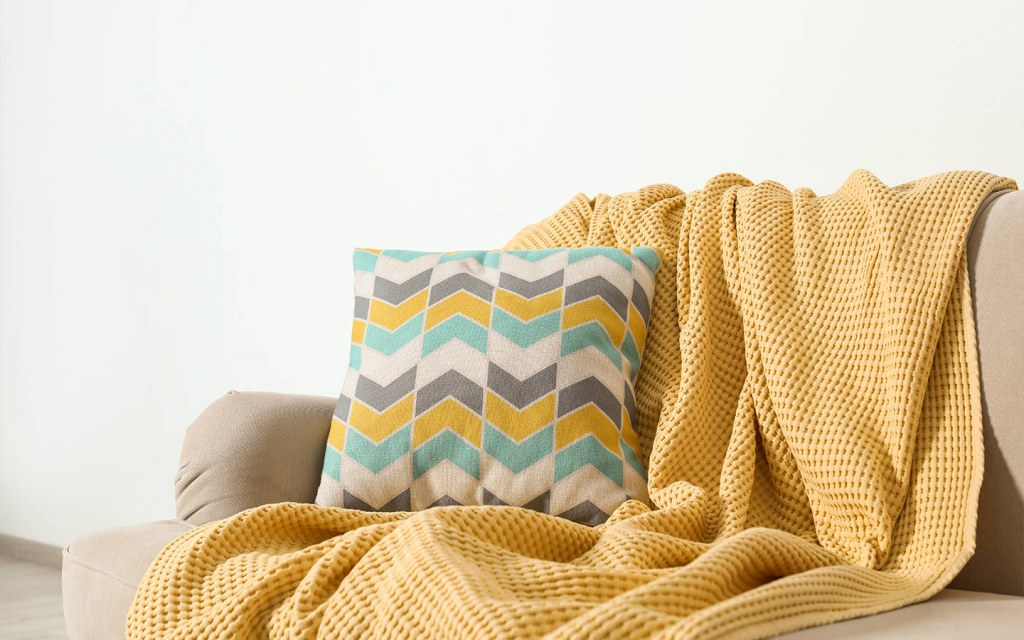 fabric of throw blankets