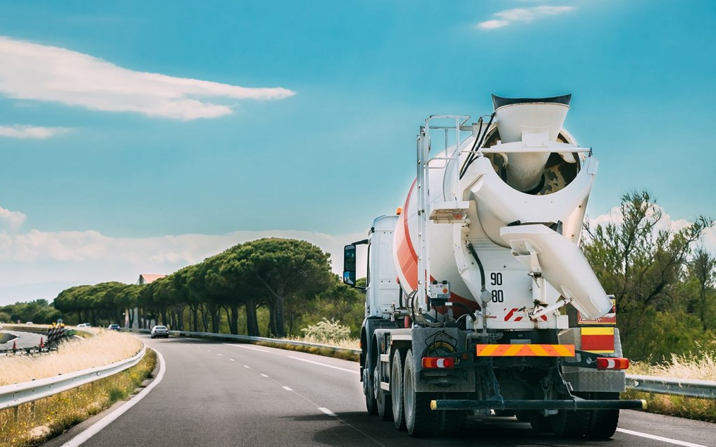 Carefully Moving Ready-mix concrete