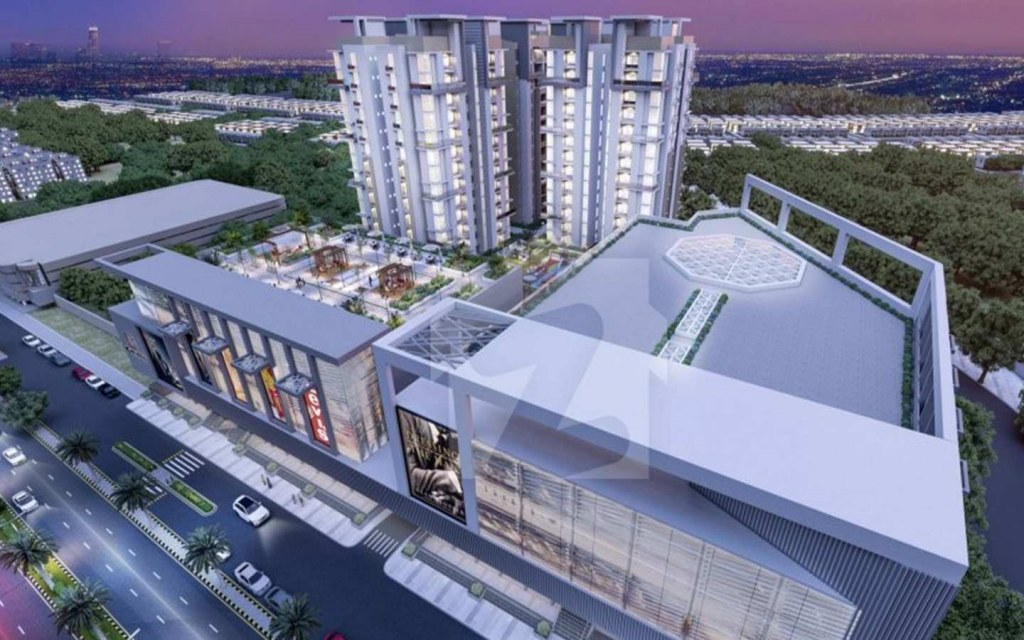 mixed use building of the mega mall & residency