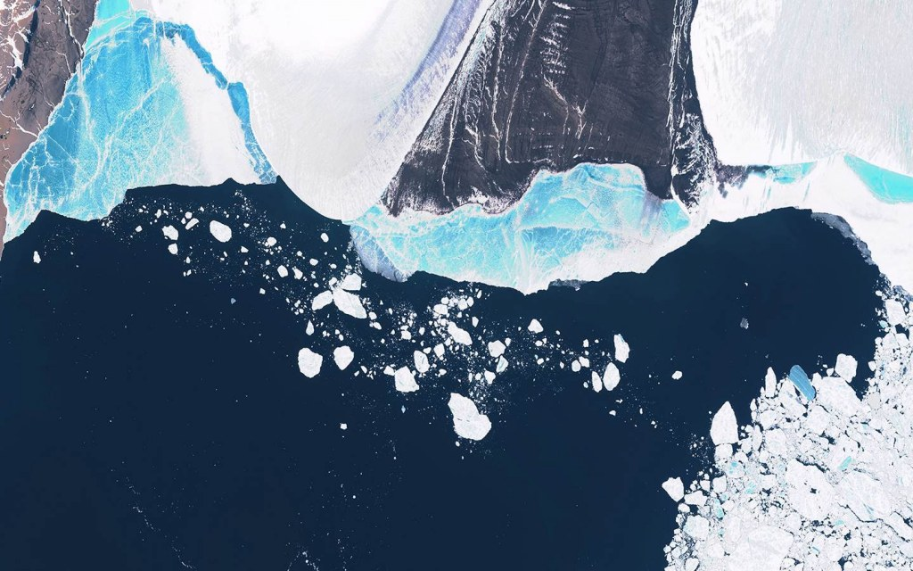 Polar ice caps are melting due to increased temperature