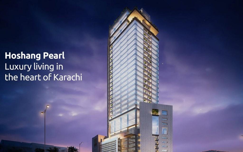 Hoshang Pearl residential tower in karachi