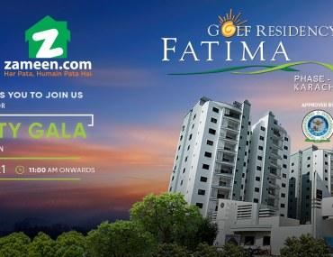 Property gala at Fatima Golf Residency