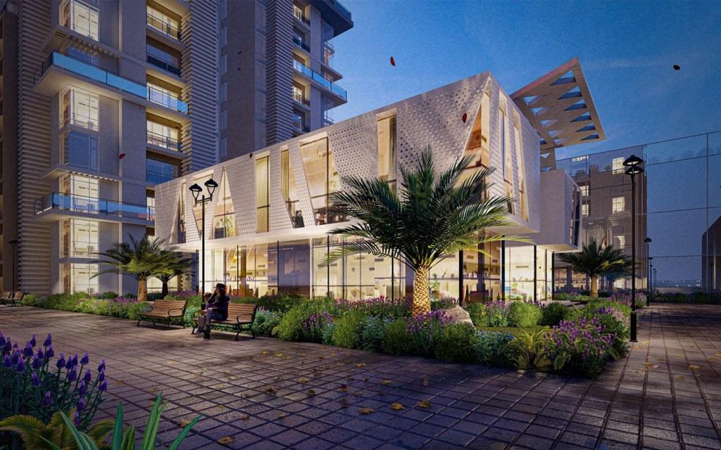 Mega Mall & Residency, vertical development offering properties for investment.